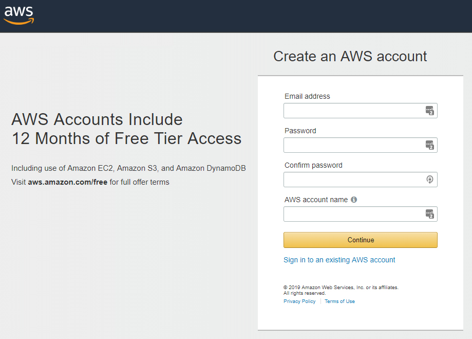 Amazon Web Services Signup